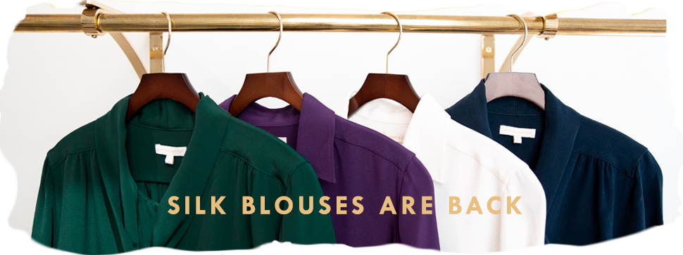 silk blouses are back