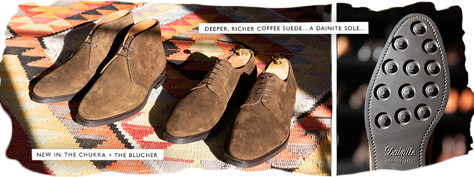 the chukka + the blucher in a deeper, richer coffee suede