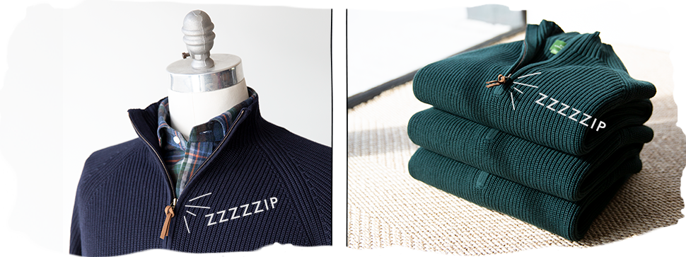 half-zip cotton sweaters