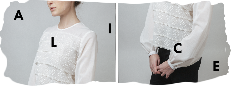 the swiss lace-and-voile alice top