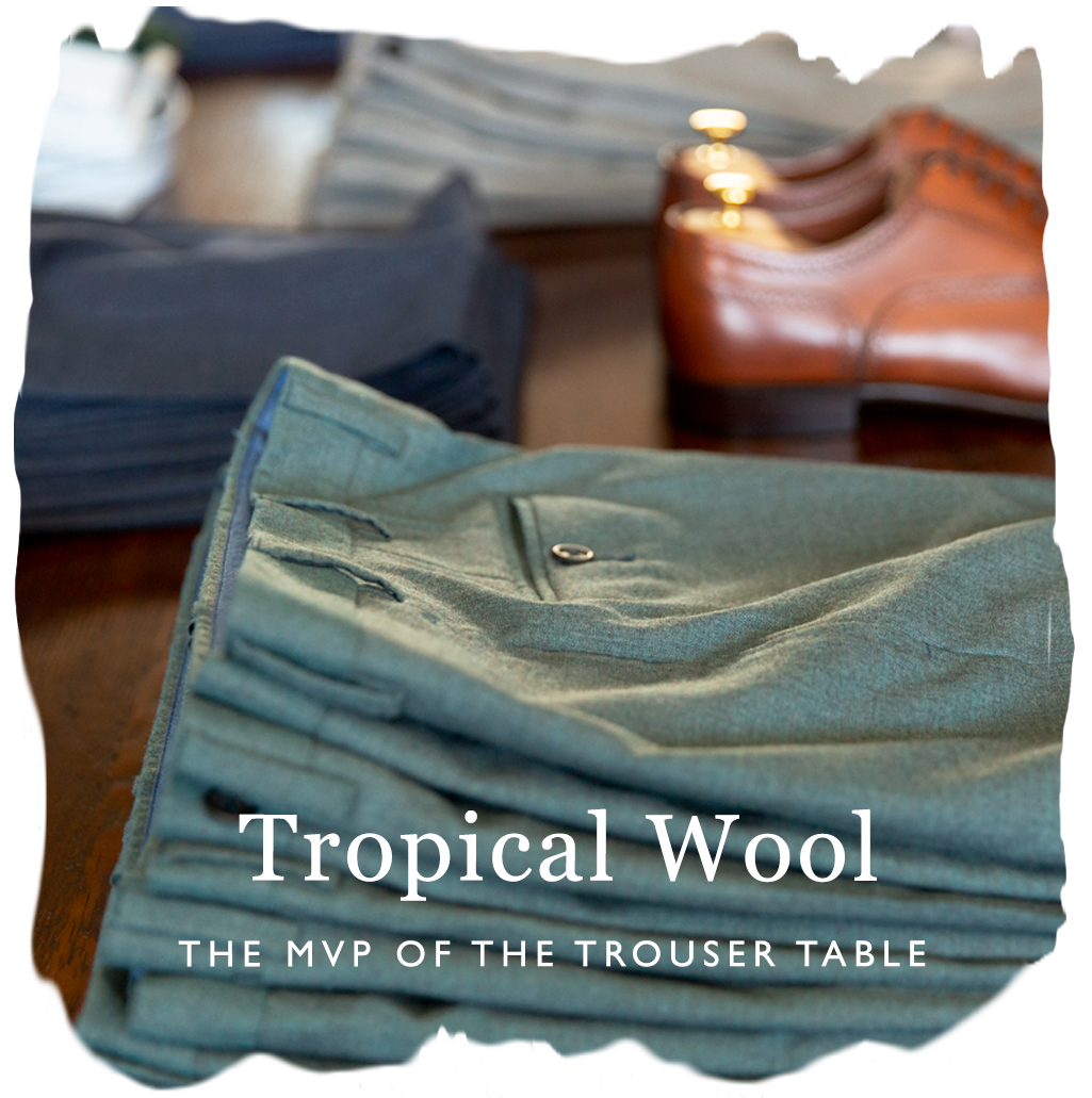 tropical wool dress trousers
