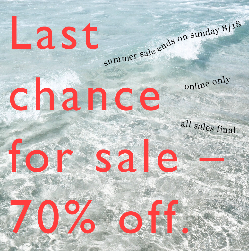 70% off sale - all sales final