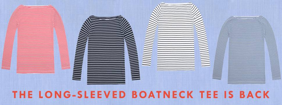 striped boatneck tees