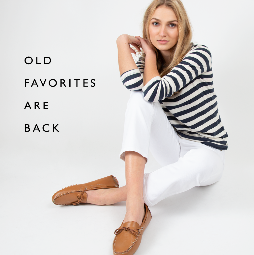 old favorites - espadrilles and paola bags and driving mocs - are back