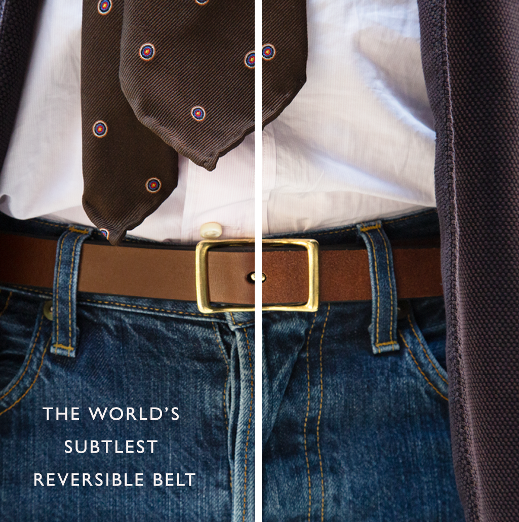 the world's subtlest reversible belt